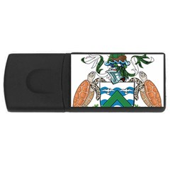 Coat Of Arms Of Ascension Island Rectangular Usb Flash Drive