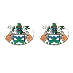 Coat Of Arms Of Ascension Island Cufflinks (oval)