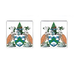 Coat Of Arms Of Ascension Island Cufflinks (square)
