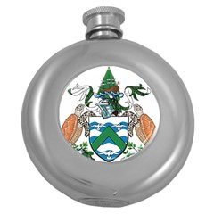 Coat Of Arms Of Ascension Island Round Hip Flask (5 Oz)
