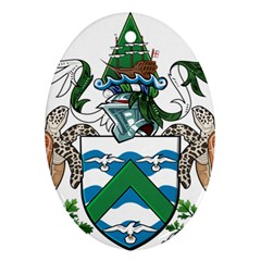 Coat Of Arms Of Ascension Island Oval Ornament (two Sides)