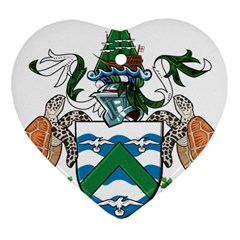 Coat Of Arms Of Ascension Island Heart Ornament (two Sides) by abbeyz71