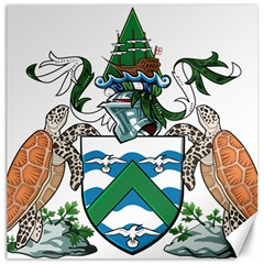 Coat Of Arms Of Ascension Island Canvas 12  X 12