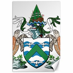 Coat Of Arms Of Ascension Island Canvas 20  X 30