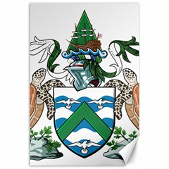 Coat Of Arms Of Ascension Island Canvas 24  X 36  by abbeyz71