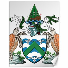 Coat Of Arms Of Ascension Island Canvas 36  X 48