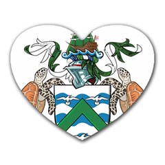 Coat Of Arms Of Ascension Island Heart Mousepads