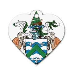 Coat Of Arms Of Ascension Island Dog Tag Heart (two Sides)