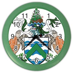 Coat Of Arms Of Ascension Island Color Wall Clocks
