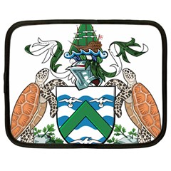 Coat Of Arms Of Ascension Island Netbook Case (large)