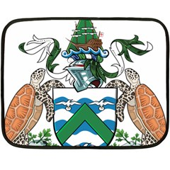 Coat Of Arms Of Ascension Island Double Sided Fleece Blanket (mini)