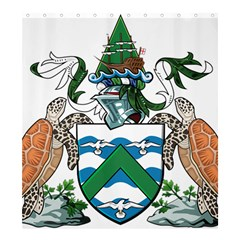 Coat Of Arms Of Ascension Island Shower Curtain 66  X 72  (large)