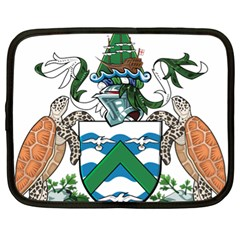 Coat Of Arms Of Ascension Island Netbook Case (xl)