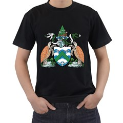 Coat Of Arms Of Ascension Island Men s T Shirt (black)