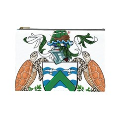 Coat Of Arms Of Ascension Island Cosmetic Bag (large)