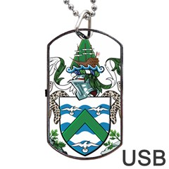 Coat Of Arms Of Ascension Island Dog Tag Usb Flash (two Sides)