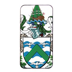 Coat Of Arms Of Ascension Island Apple Iphone 4/4s Seamless Case (black)