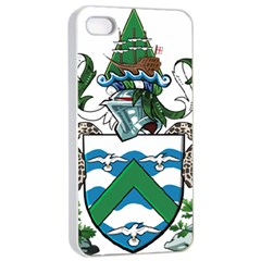 Coat Of Arms Of Ascension Island Apple Iphone 4/4s Seamless Case (white)
