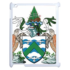 Coat Of Arms Of Ascension Island Apple Ipad 2 Case (white)