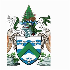 Coat Of Arms Of Ascension Island Small Garden Flag (two Sides)