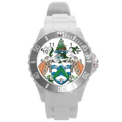 Coat Of Arms Of Ascension Island Round Plastic Sport Watch (l)