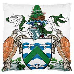 Coat Of Arms Of Ascension Island Large Cushion Case (two Sides)