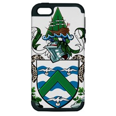 Coat Of Arms Of Ascension Island Apple Iphone 5 Hardshell Case (pc+silicone)
