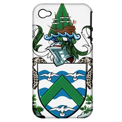 Coat Of Arms Of Ascension Island Apple Iphone 4/4s Hardshell Case (pc+silicone)
