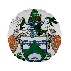 Coat Of Arms Of Ascension Island Standard 15  Premium Round Cushions