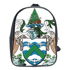Coat Of Arms Of Ascension Island School Bag (xl)
