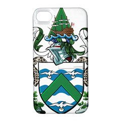 Coat Of Arms Of Ascension Island Apple Iphone 4/4s Hardshell Case With Stand