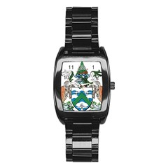 Coat Of Arms Of Ascension Island Stainless Steel Barrel Watch