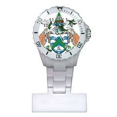 Coat Of Arms Of Ascension Island Plastic Nurses Watch