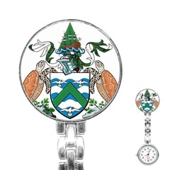 Coat Of Arms Of Ascension Island Stainless Steel Nurses Watch