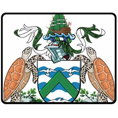 Coat Of Arms Of Ascension Island Double Sided Fleece Blanket (medium)