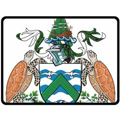 Coat Of Arms Of Ascension Island Double Sided Fleece Blanket (large)  by abbeyz71