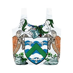 Coat Of Arms Of Ascension Island Full Print Recycle Bags (m)