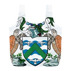 Coat Of Arms Of Ascension Island Full Print Recycle Bags (l)