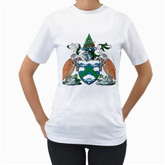 Coat Of Arms Of Ascension Island Women s T Shirt (white)