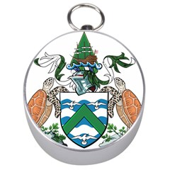 Coat Of Arms Of Ascension Island Silver Compasses by abbeyz71