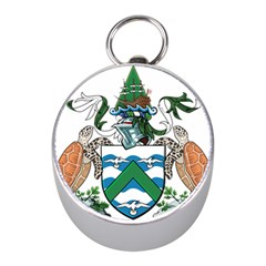 Coat Of Arms Of Ascension Island Mini Silver Compasses
