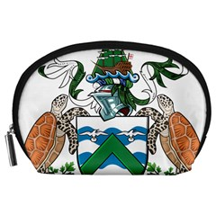 Coat Of Arms Of Ascension Island Accessory Pouches (large)  by abbeyz71