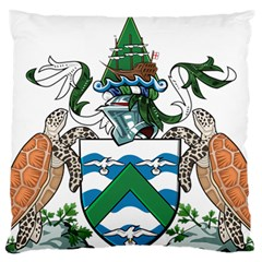 Coat Of Arms Of Ascension Island Large Flano Cushion Case (one Side)