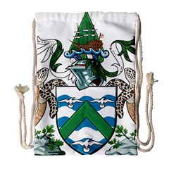 Coat Of Arms Of Ascension Island Drawstring Bag (large) by abbeyz71