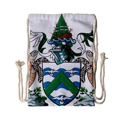 Coat Of Arms Of Ascension Island Drawstring Bag (small) by abbeyz71