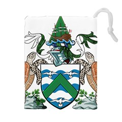 Coat Of Arms Of Ascension Island Drawstring Pouches (extra Large) by abbeyz71