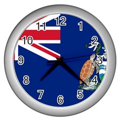 Flag Of Ascension Island Wall Clocks (silver)  by abbeyz71