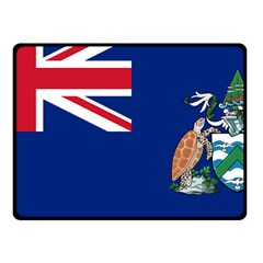 Flag Of Ascension Island Fleece Blanket (small) by abbeyz71