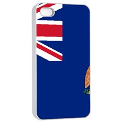 Flag Of Ascension Island Apple Iphone 4/4s Seamless Case (white) by abbeyz71