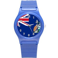 Flag Of Ascension Island Round Plastic Sport Watch (s) by abbeyz71